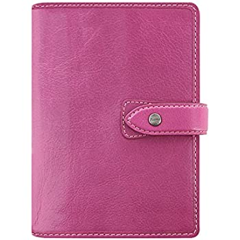 Amazon.com : Filofax Malden Fuchsia Personal Size Leather ...