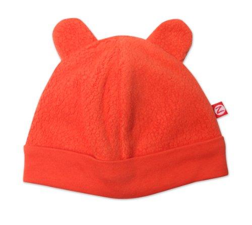 Zutano Unisex Baby Cozie Fleece Hat, Mandarin, 12 Months