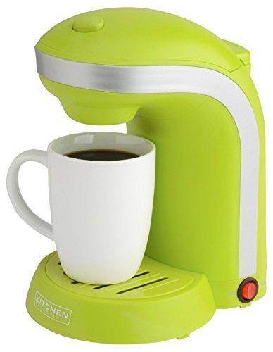 Kitchen Selectives Single Serve Coffee Maker With 12 Oz Mug Green
