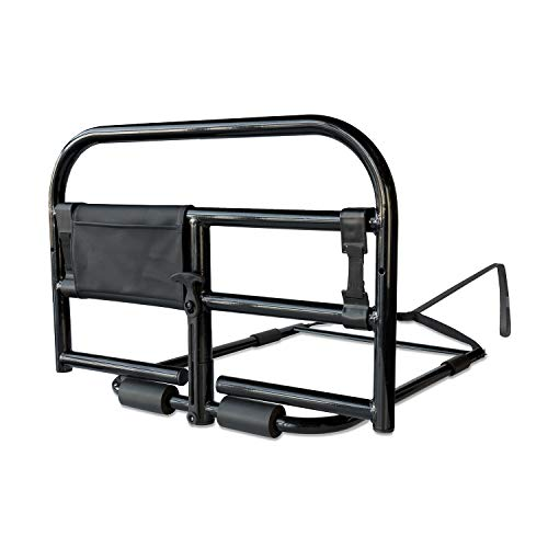 Stander Prime Adult Bed Rail Elderly Safety Bed Rail with Heavy Duty Bariatric Handle & ()