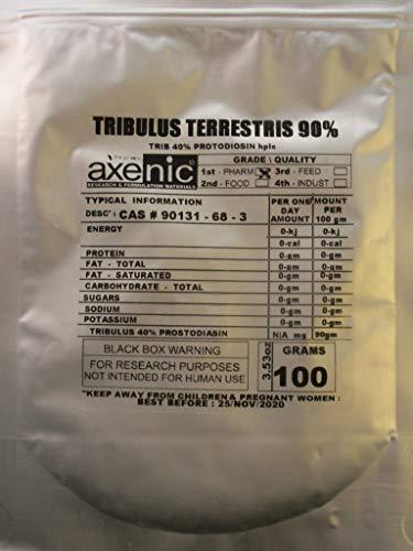 (100 Grams TRIBULUS TERRESTRIS 90% Saponin, 50% protodiosin HPLC)