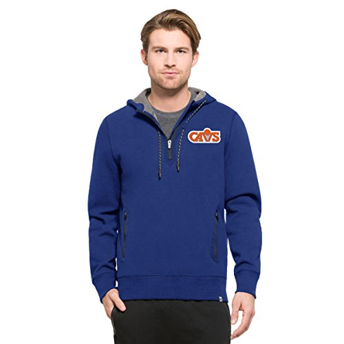 NBA Cleveland Cavaliers Men's '47 Compete Full-Zip Hood, Booster Blue, X-Large