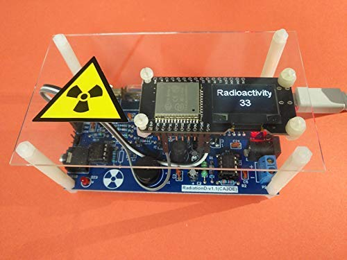 Networkable Professional Assembled Geiger Counter Kit,Nuclear Radiation Detector GM Tube γβ-ray Radiation