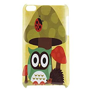 Owl Pattern Hard Case for iPod Touch 4