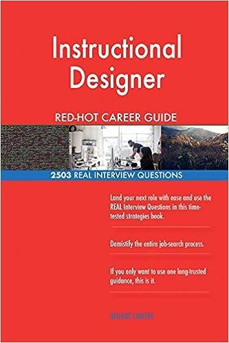 Instructional Designer RED-HOT Career Guide