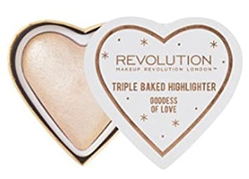 Amazon.com : Makeup Revolution Blushing Hearts Highlighter ~ Goddess of Love : Beauty