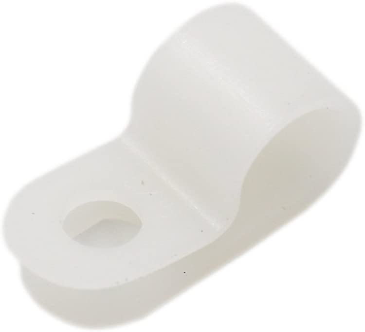 Baomain R-Type Cable Clamp 5//16 Inch White 100 Pack