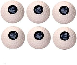 CW confezione da 6TURF dimple bianco sport outdoor/indoor palla da cricket, ideale per attività di allenamento e pratica, coaching