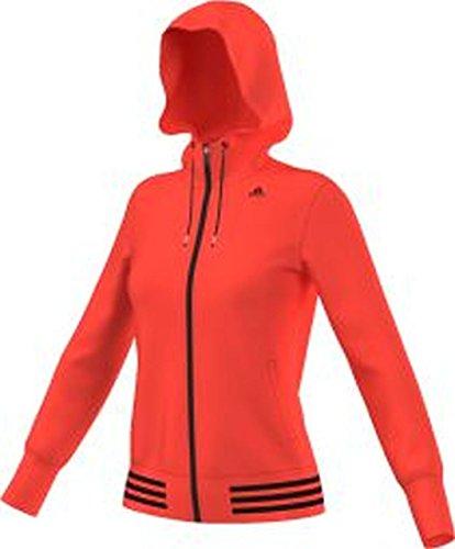 Adidas Q4HOODIE Damen Sweatshirt Orange/Schwarz