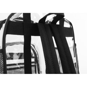 Heavy Duty Clear Backpacks For Adults Men 3 Sizes Black or Pink The Clear Bag Store Perfect for School and Work Women and Kids