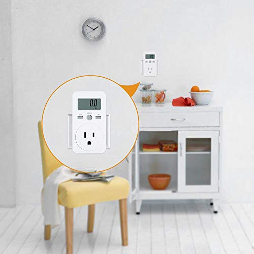 US Plug Plug-in Digital LCD Energy Monitor Power Meter Monitoring Socket