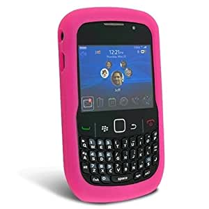 Hot Pink Silicone Soft Skin Case Cover for Blackberry Curve 2 8520 8530