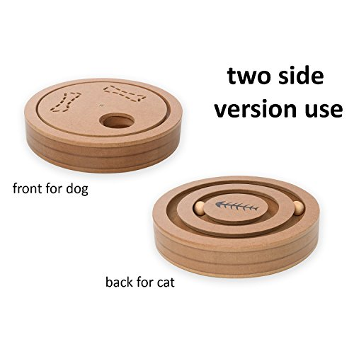 Best Interactive Pet Intelligence Toy – Pet Food Dispenser Treated Wooden Intellectual Puzzle IQ Hide and Seek Toy Game for Dogs Cats Pets, Natural Bowls Feeder for Small Medium Large Dogs and Cats by Proffcenter (Image #2)