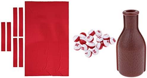 CUTICATE 1pc Tapetes de Billar/Funda de Billar de Repuesto, Rojo 9 ...