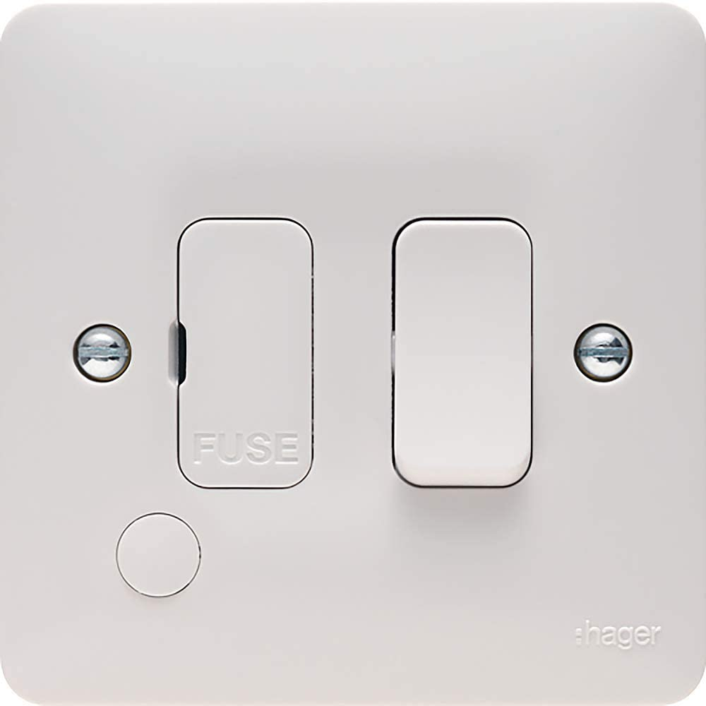Hager 13a Switched Fused Connection Unit Fcu With Flex Outlet Sollysta Range Amazon Co Uk Office Products