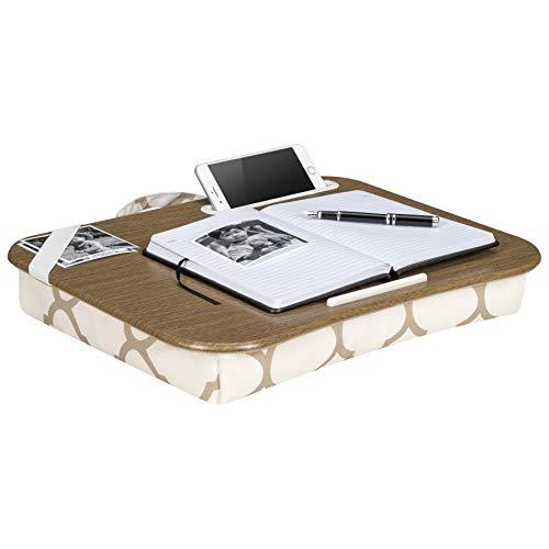 (LapGear Designer Lap Desk - Beige Quatrefoil (Fits up to 17.3