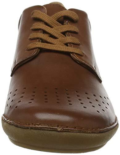 De Cordones camel 114 Para Mujer Marrón Kickers Fowfoperf Zapatos Derby qOxwCEta