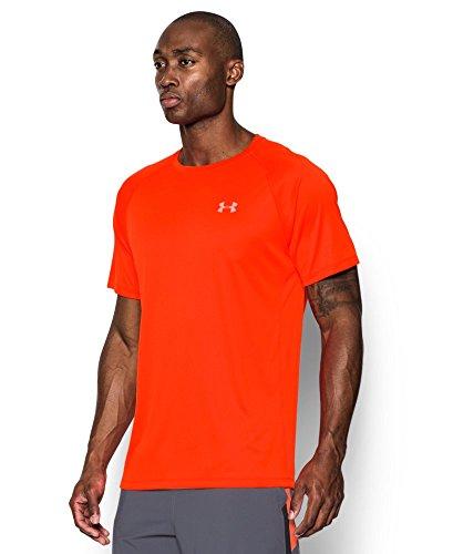 Under Armour Men's HeatGear Run Short Sleeve T-Shirt X-Large Phoenix FIRE by Under Armour (Image #2)