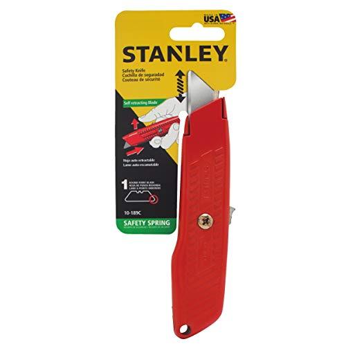 "STANLEY 10-189C 6"" Self Retractable InterLock® Utility Knife (Red) Price & Reviews"