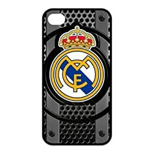 Football Club Real Madrid FC Logo Water Proof iPhone 4 / 4S Silicone Case by runtopwell