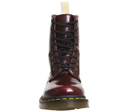 1460 Vegan Dr Synthetic Boots Red Leather Cherry 8 martens Womens eyelet PqPxtEg