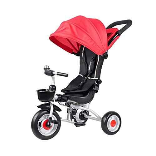 Triciclo 3 en 1 para niños Asiento Giratorio para niños Moto de 3 Ruedas Bicicleta multifunción Carrito de bebé Plegable...