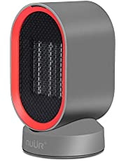 NUÜR Ceramic Electric Space Heater with Auto Oscillation Fan, Over-Heat and Tilt Protection, Warm and Cool Air, Portable, Safe, For Home or Office-UK Plug