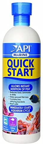 API MARINE QUICK START Saltwater And Reef Aquarium Nitrifying Bacteria 16-Ounce Bottle - Marine Reef Tank