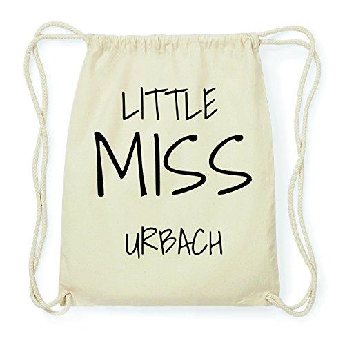 JOllify URBACH Hipster Turnbeutel Tasche Rucksack aus Baumwolle - Farbe: natur Design: Little Miss 5pvy6rIx