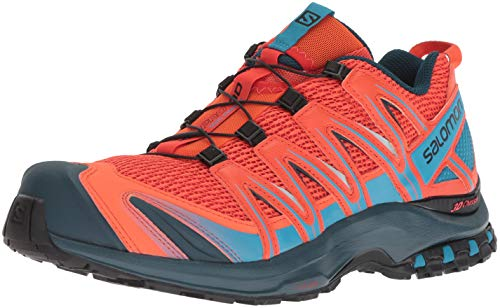 Cherry Red Shoes - Salomon Men's XA PRO 3D Trail Running Shoe, Cherry Tomato/Reflecting Pond/Fjord Blue, 11 D US