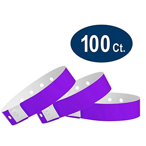 WristCo Purple Plastic Wristbands Events product image