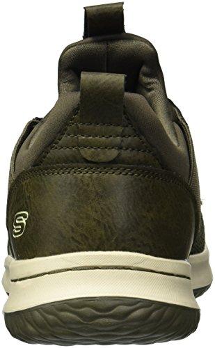 Skechers Mens Klassisk Passform-delson-camden Sneaker Oliv