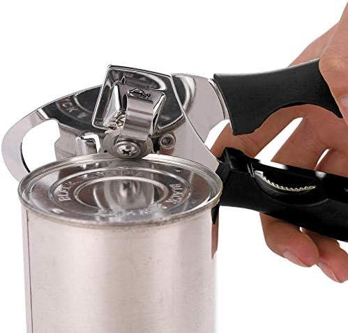 YSYPET multifunktions Professionelle Dose Manuelle Dosenöffner Craft Beer Grip Flaschenöffner Küche Party Bar Gadgets (Schwarz)
