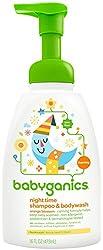 BabyGanics Foamin' Fun Night Time  Shampoo & Bodywash, Natural Orange Blossom-16oz