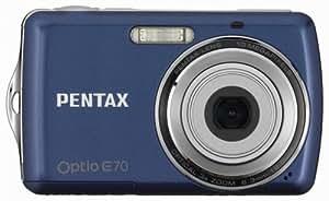 Pentax Optio E70 10MP Digital Camera with 3x Optical Zoom and 2.4 inch LCD (Dark Blue)