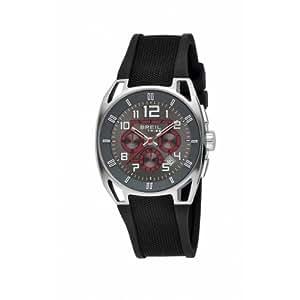 Breil TW0450 - Reloj cronógrafo de caballero de cuarzo con correa de goma negra (cronómetro) - sumergible a 50 metros