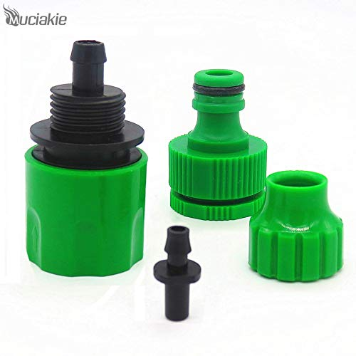 Muciakie 1 Pc 1/2'' 3/4'' Connector for 4/7Mm 8/11Mm Water Hose Quick Connectors Joint Fast Coupling Adapter