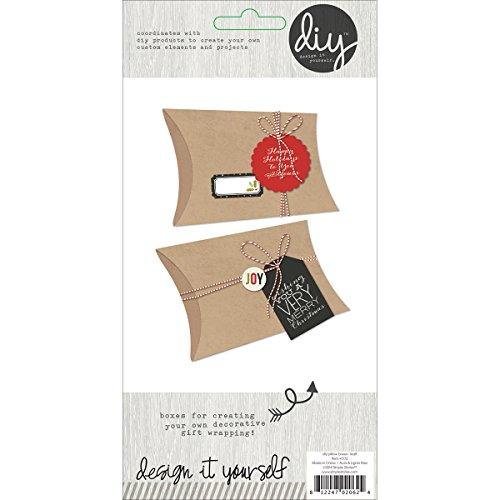 "Brand New DIY Pillow Boxes 6""X3"" 3/Pkg-Kraft Brand New"