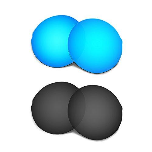 23827ea14e HKUCO Plus Replacement Lenses For Oakley Madman Sunglasses Blue Black  Polarized