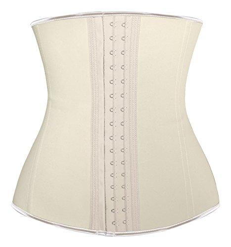 Charmian Women's Latex Waist Training Underbust Corset Weight Loss Body Shaper Ivory XXXX-Large ()