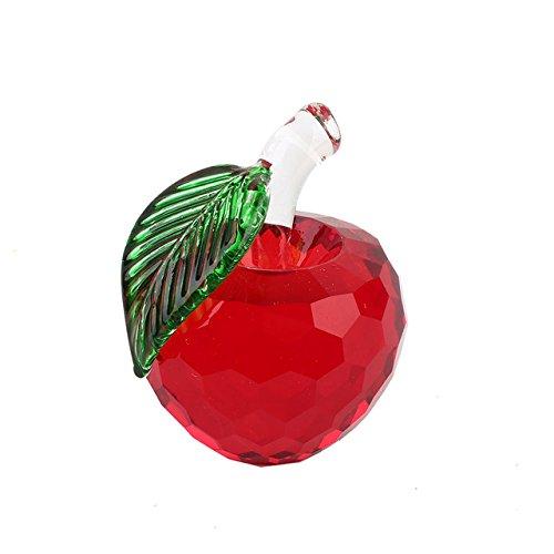 Generic Pretty Crafts Art Kristall Apple Tisch Ornaments DIY Briefbeschwerer Hochzeit Decor, gelb, 6  5  5cm B07CC5X1Z2 | Schönes Design