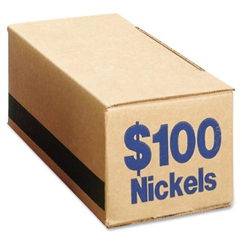 Wholesale CASE of 5 - PM Company SecurIT Coin Boxes-Coin Box, Nickels, 100, 50/CT, Blue by PMC (Image #1)