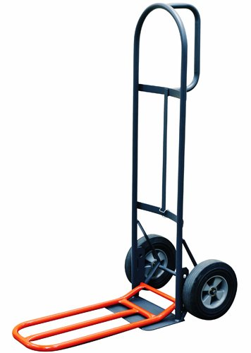 Milwaukee Hand Trucks 47515S D-Handle Truck with 10-Inch Solid Puncture Proof Tires and Nose Plate Extension