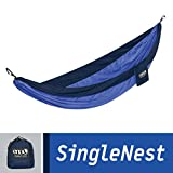 ENO Eagles Nest Outfitters - SingleNest Hammock, Portable Hammock for One, Navy/Royal