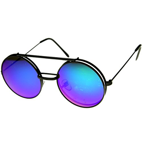 aee7ba515 Limited Edition Mirror Flip-Up Lens Round Circle Django Sunglasses (Black  Midnight) - Buy Online in Oman. | Apparel Products in Oman - See Prices, ...