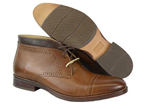 Johnston & Murphy Men's Garner Cap Toe Chukka Boot Size US 8.5 M Tan ()