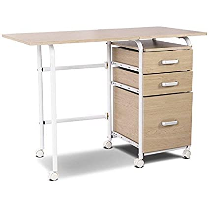 home office drawers. Delighful Home Tangkula Folding Computer Desk Wheeled Home Office Furniture With 3 Drawers  Laptop Writing Table Portable To Home Office Drawers F