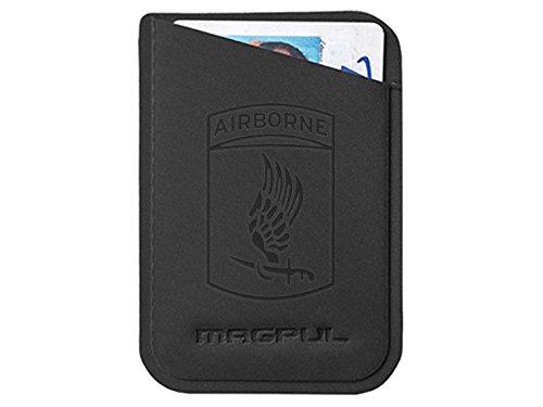Magpul DAKA Micro Wallet MAG762 Black Laser Engraved Army 173rd Airborne Division Emblem (Division Airborne 173rd)