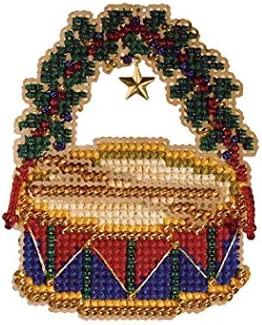 Harp Beaded Christmas Ornament Kit Mill Hill 2007 Holiday Harmony