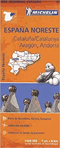 Espana noreste, cataluna, catalunya, aragon, andorra Régional Espagne: Amazon.es: Michelin: Libros en idiomas extranjeros